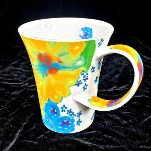 Starbucks 2006 Coffee Mug 12 Oz Flower Ceramic